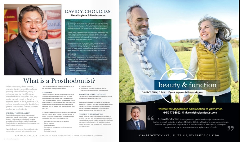 Dr David Choi featured on YourVilla Magazine Redlands and Riverside